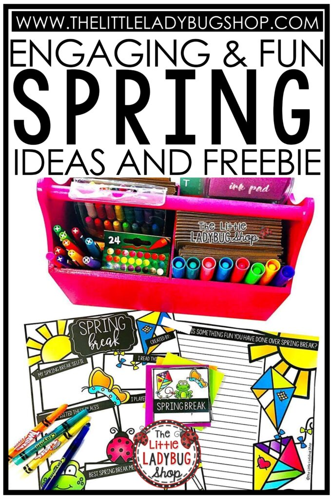 Spring activities, books and freebie