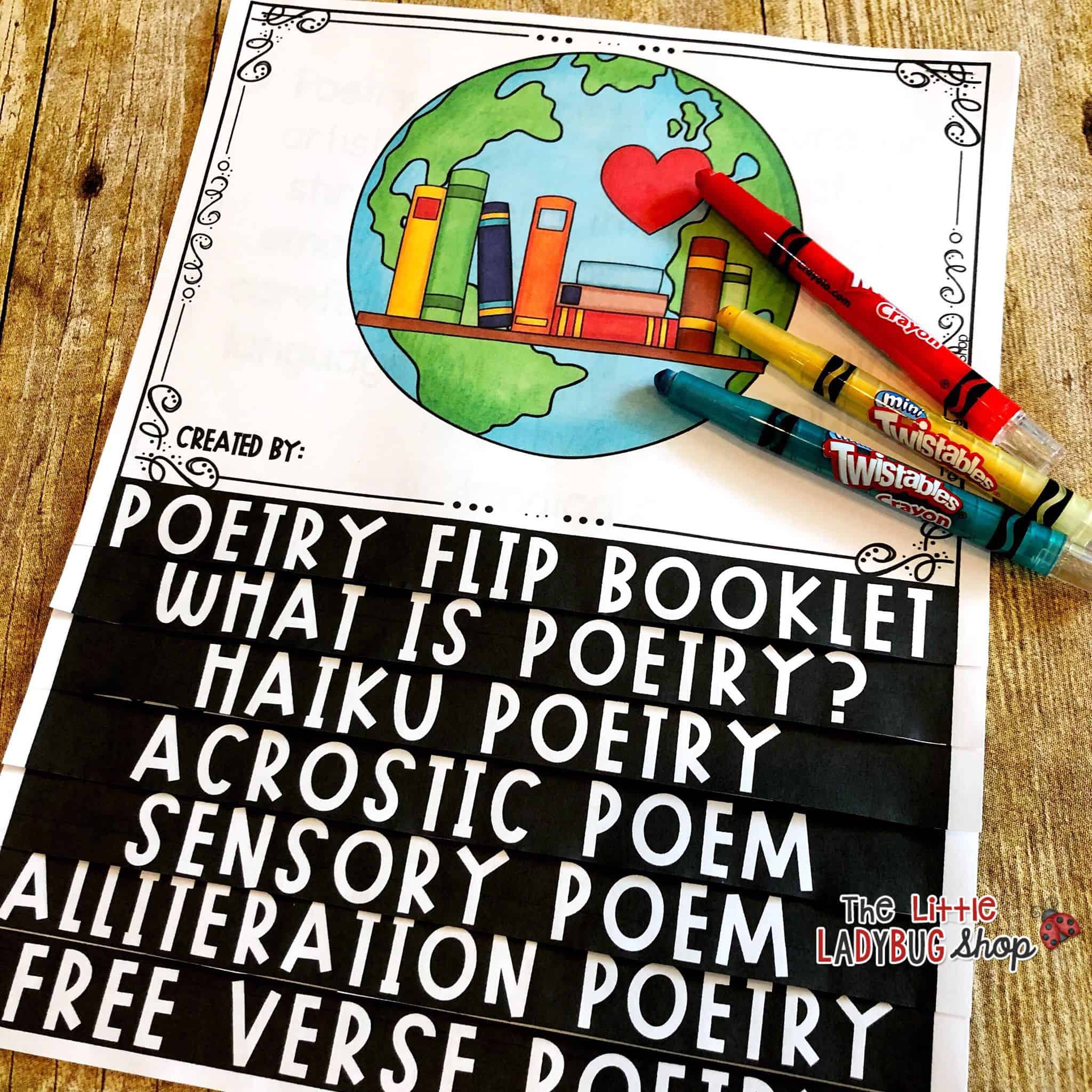 Teaching Poetry to kids with ideas and activities. Poetry Freebie