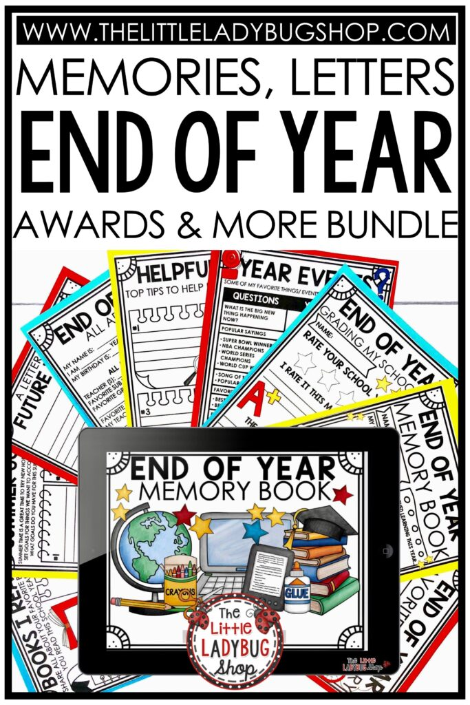 End of School Year Activities, End of Year Books to Read