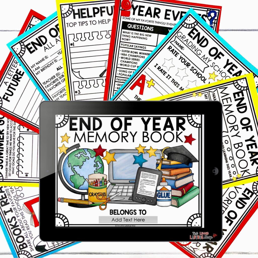End of Year Activities Memory Book