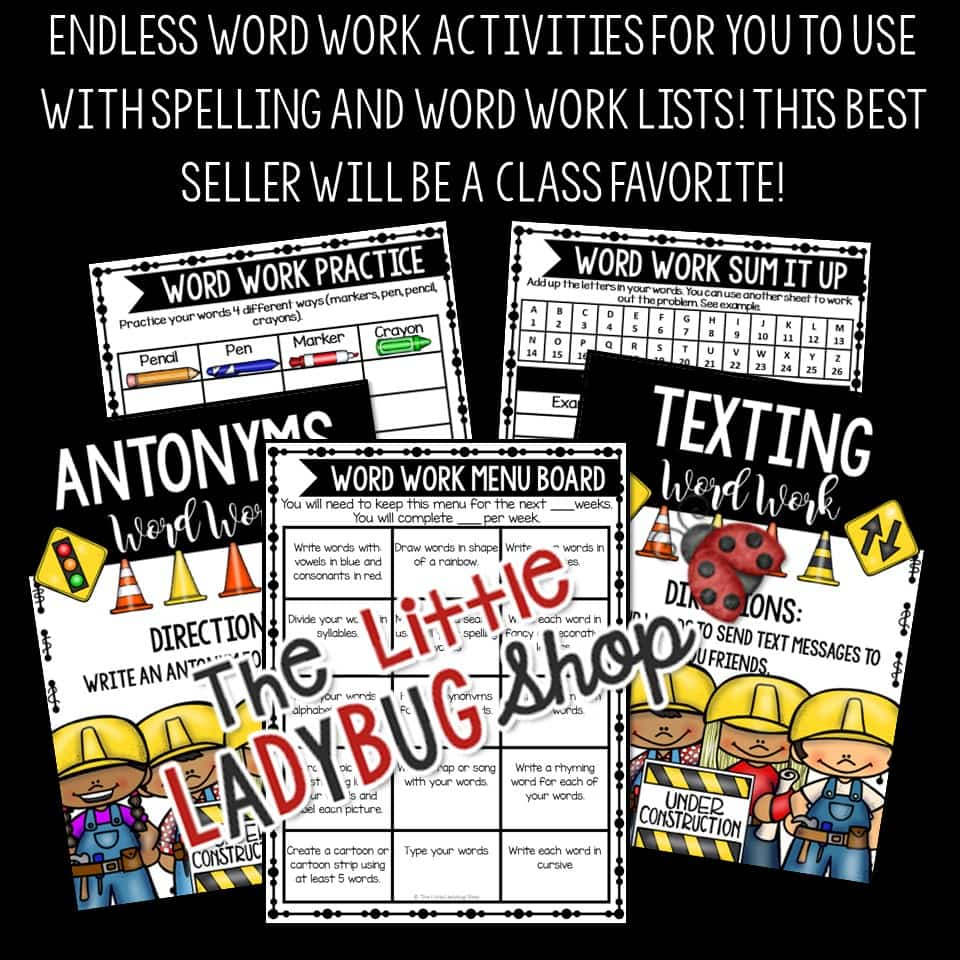 worksheet Words Their Way Worksheets word work activities spelling words their way centers worksheets bundle