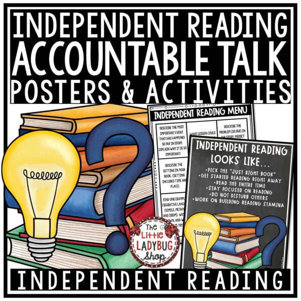 Accountable Talk- Independent Reading Posters 3rd grade, 4th grade, homeschool