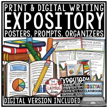 Digital Expository Writing Prompts Graphic Organizers Posters Test Prep