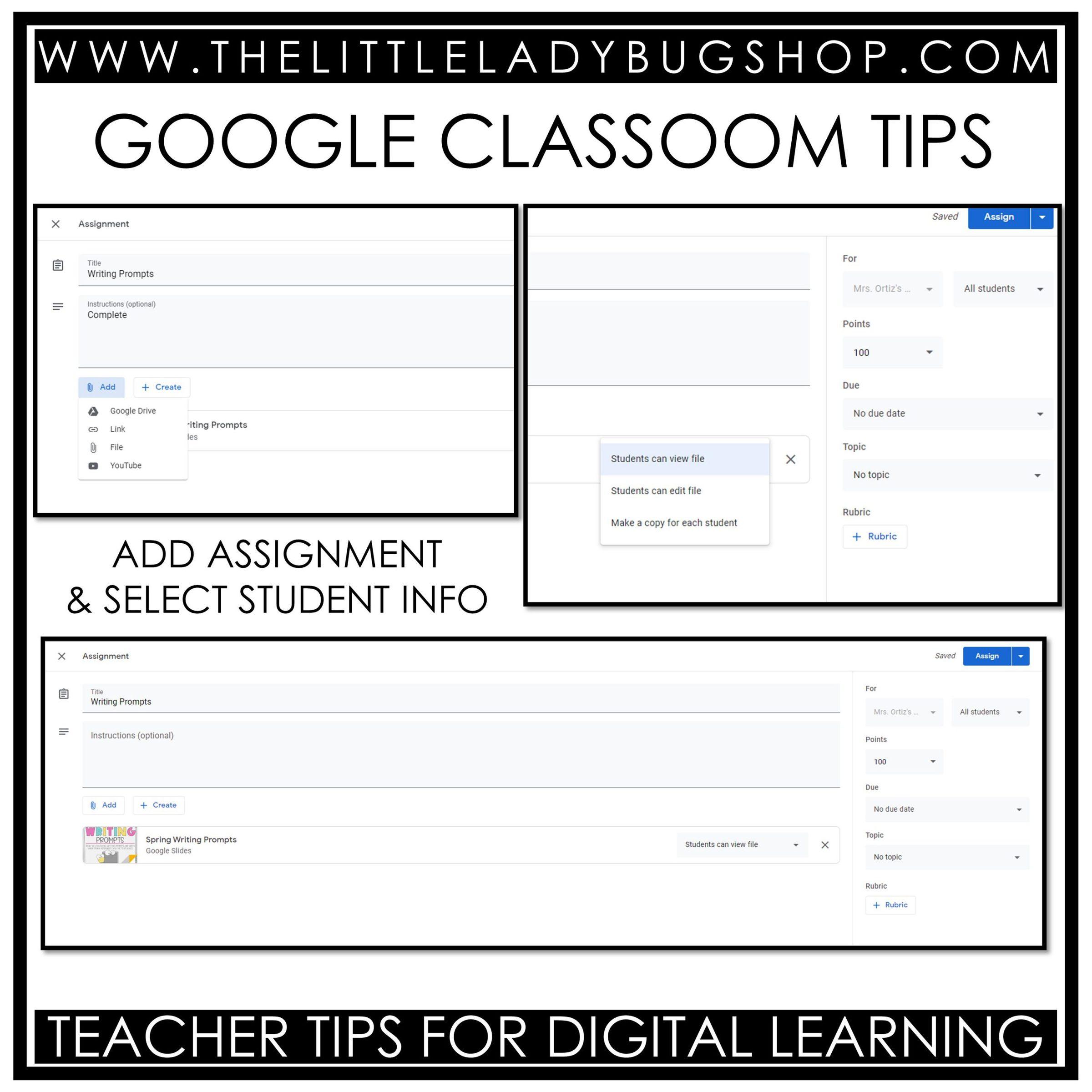 Google Slides Paperless Classroom