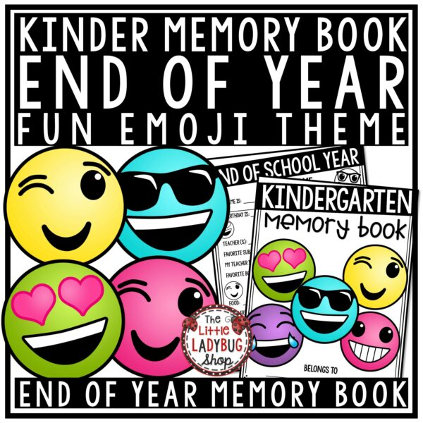 Emoji End of Year Memory Book Kinder