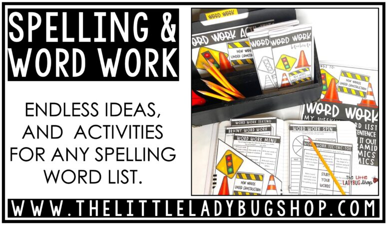 Tips for Teaching Word Work Activities