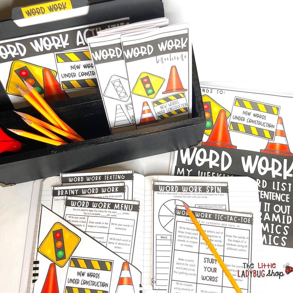 Word Work Activities & Spelling Centers Upper Elementary