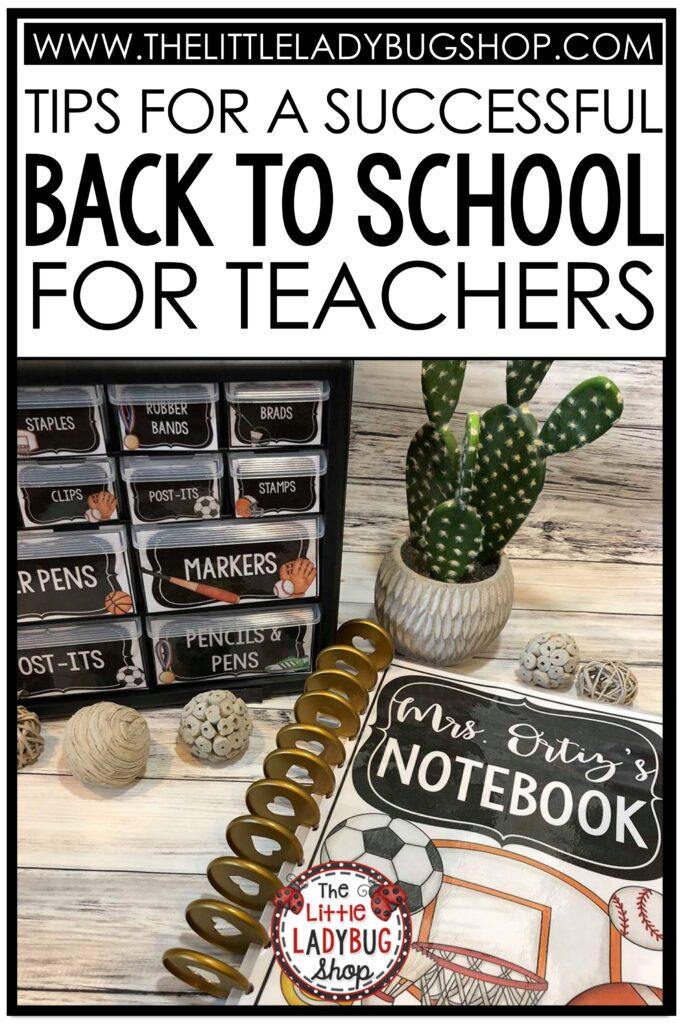 Teacher Back to School Ideas