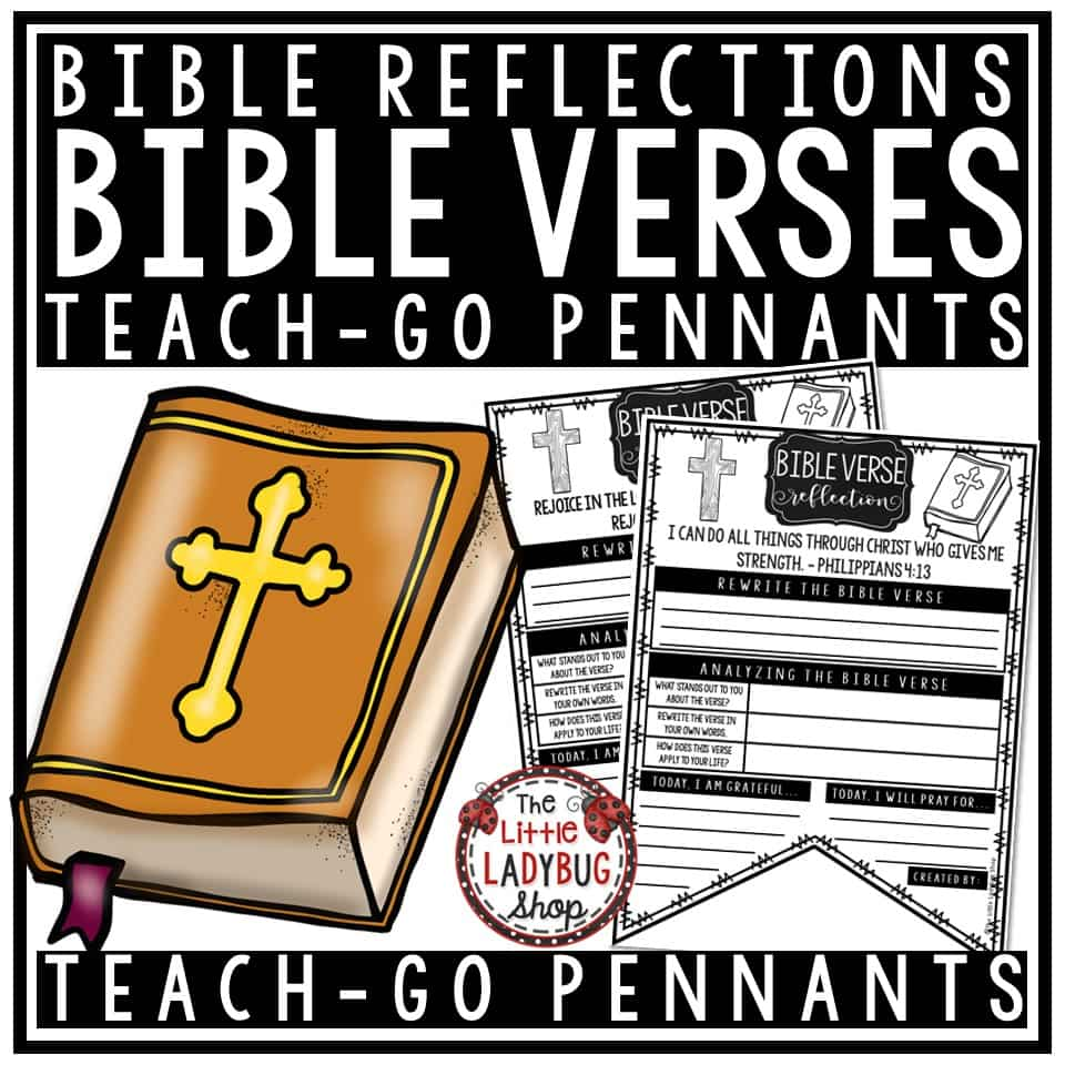 Weekly Journal Bible Verse Reflection Christian Bible Lessons Teach- Go  Pennants™