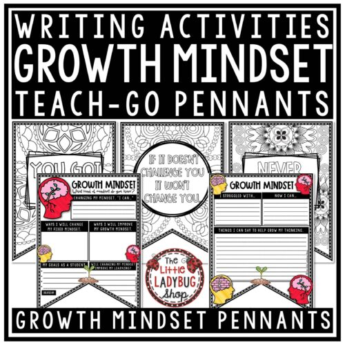 Growth Mindset Activities & Goal Setting Growth Mindset Posters Bulletin Board