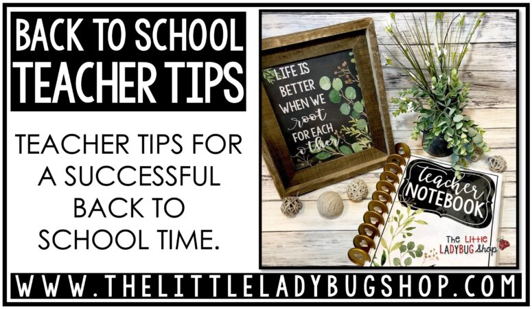 Teacher Back to School Tips