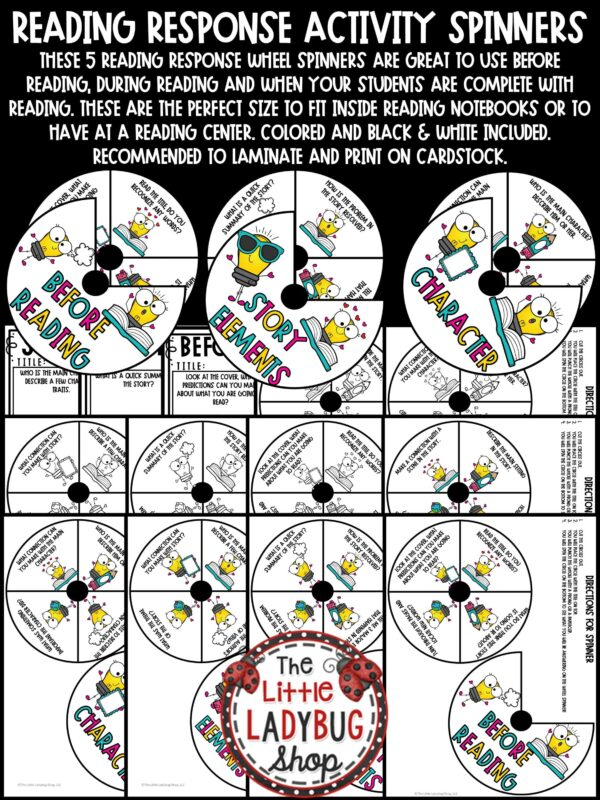 Reading Response Activity Spinner -Book Club Activities
