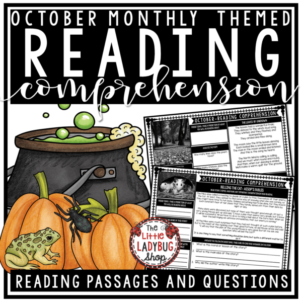 Close Reading Comprehension Passages and Questions 4th Grade,