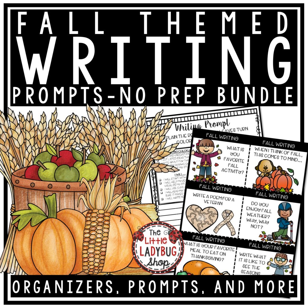 Fall Writing Prompts for 3rd grade-5th grade