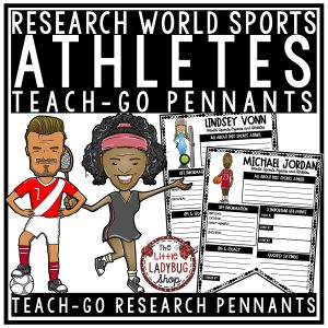 Famous Athletes Research Templates Teach- Go Pennants™