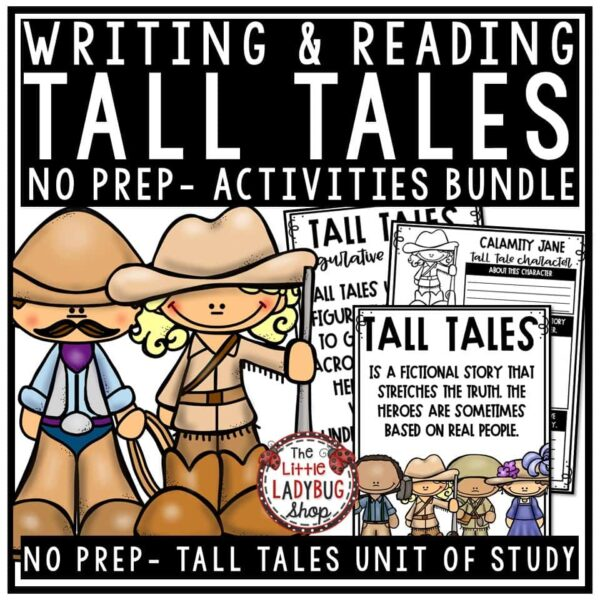 Tall Tales Unit- Davy Crockett, Paul Bunyan, Zorro Tall Tales Graphic Organizer
