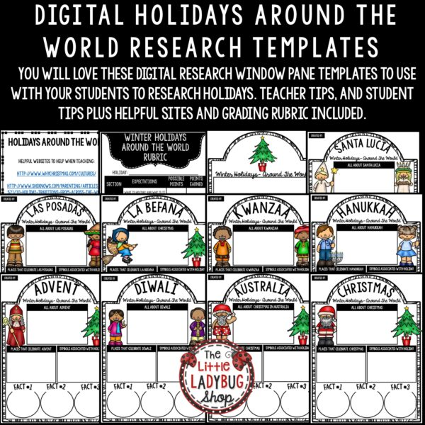 Holidays Around the World Google Classroom Research Activity