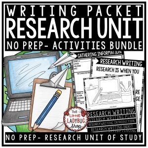 Research Writing Unit Research Graphic Organizers