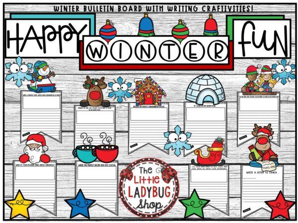 Winter & Christmas Craftivity Pennants