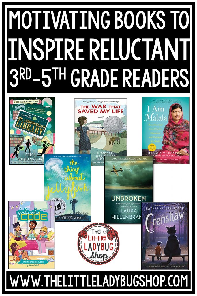 Motivating Books to Inspire Reluctant Readers in 3rd-5th Grade