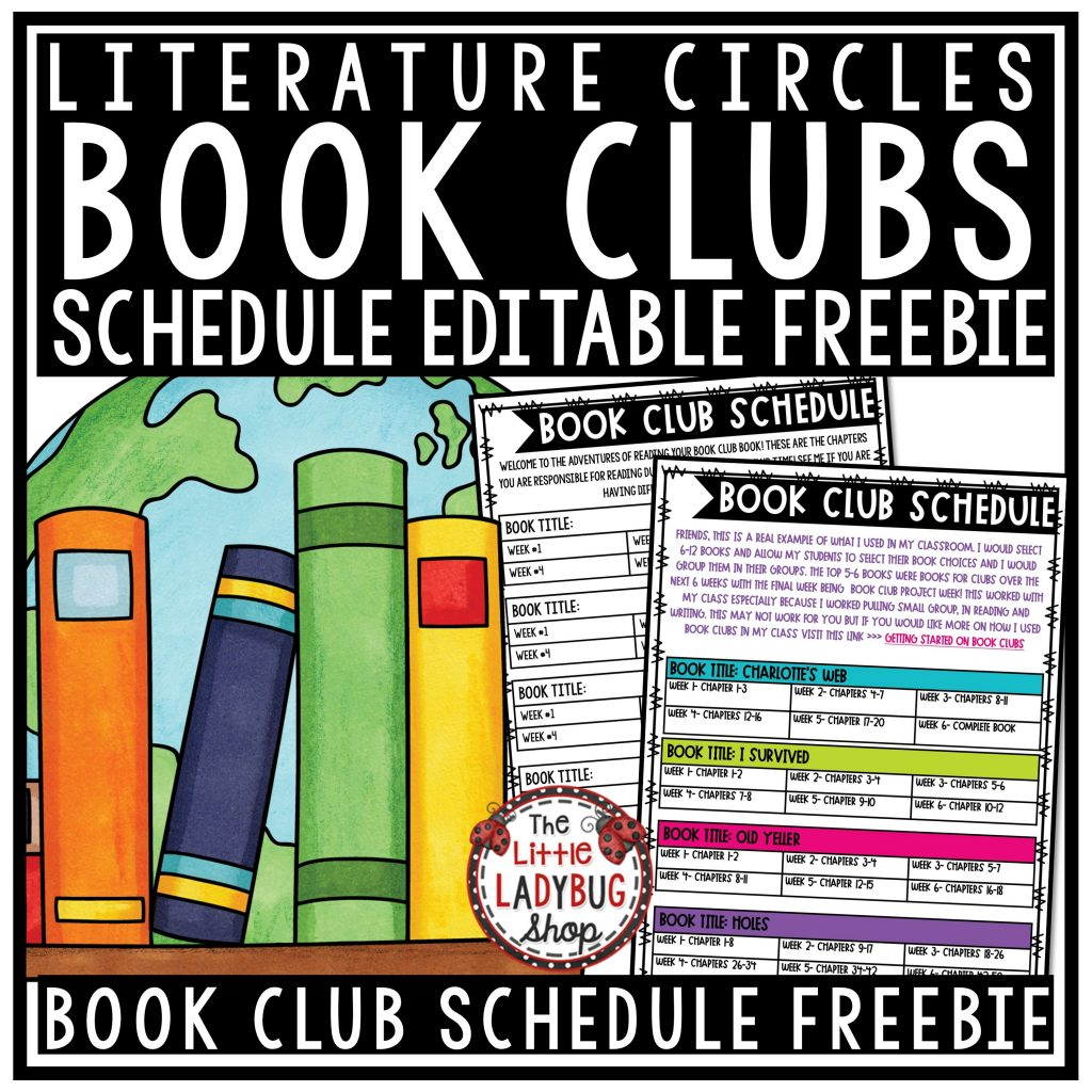 Getting Started with Book Clubs and Literature Circles. Book Ideas, book club activities, and literature circle projects. Freebie included for 3rd, 4th, 5th grade and home school!