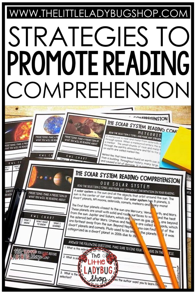 Strategies that Promote Reading Comprehension Skills for elementary students.