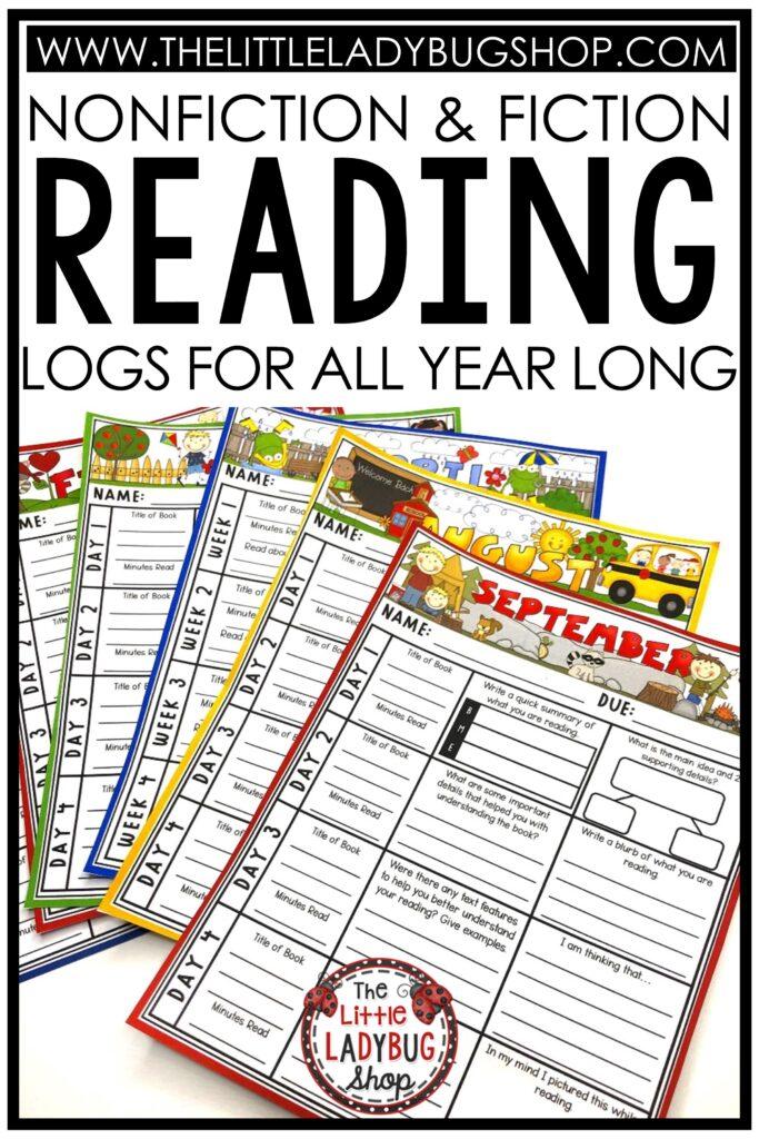 Fiction & Nonfiction Reading Logs