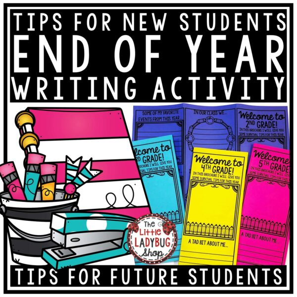 End of the Year Advice for Future Students Tips for Surviving the School Year from Kids. Perfect for 2nd grade, 3rd grade, 4th grade students.