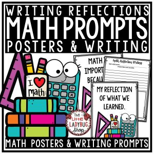 3rd Grade Math Journal Prompts & 4th Grade Math Writing Prompts & Posters