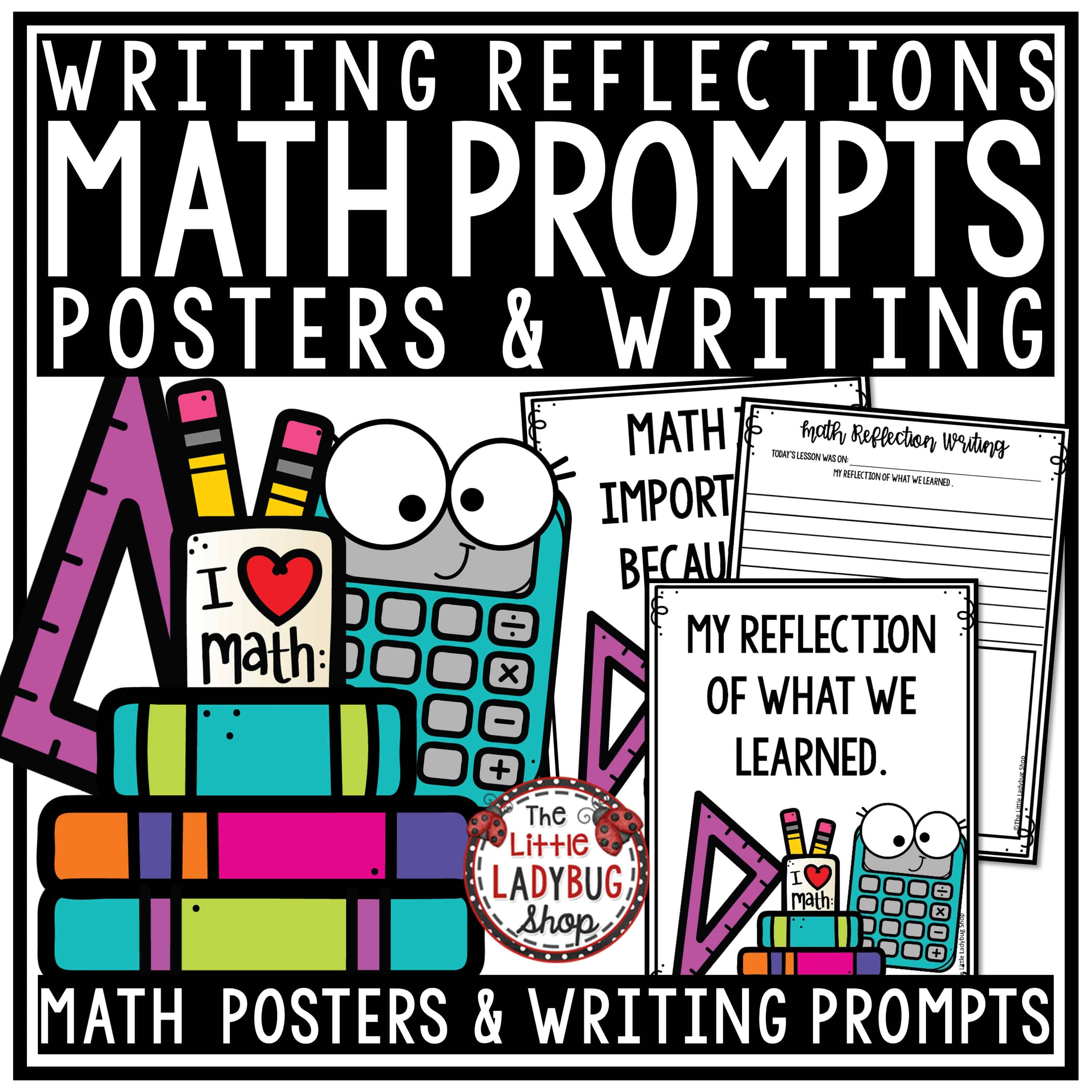 Reflective Math Writing Prompts 3rd Grade & 4th Grade