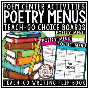 Poetry Choice Boards for 3rd grade, 4th grade and home school