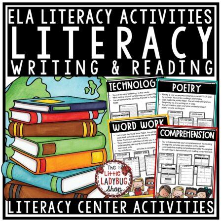 Literacy Centers 3rd Grade, 4th Grade Activities