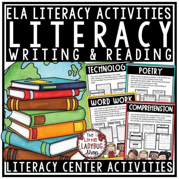 Literacy Centers 3rd Grade, 4th Grade Activities