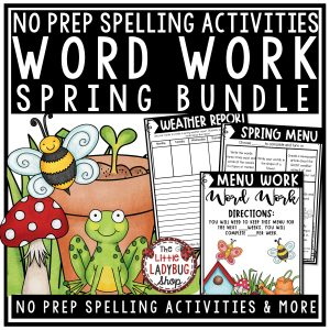 Spring Word Work & Spelling Activities for 3rd grade, 4th grade and home school classrooms.