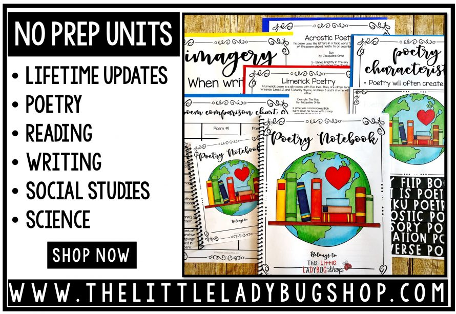 Reading and Writing No Prep Units of Study 3rd grade, 4th grade