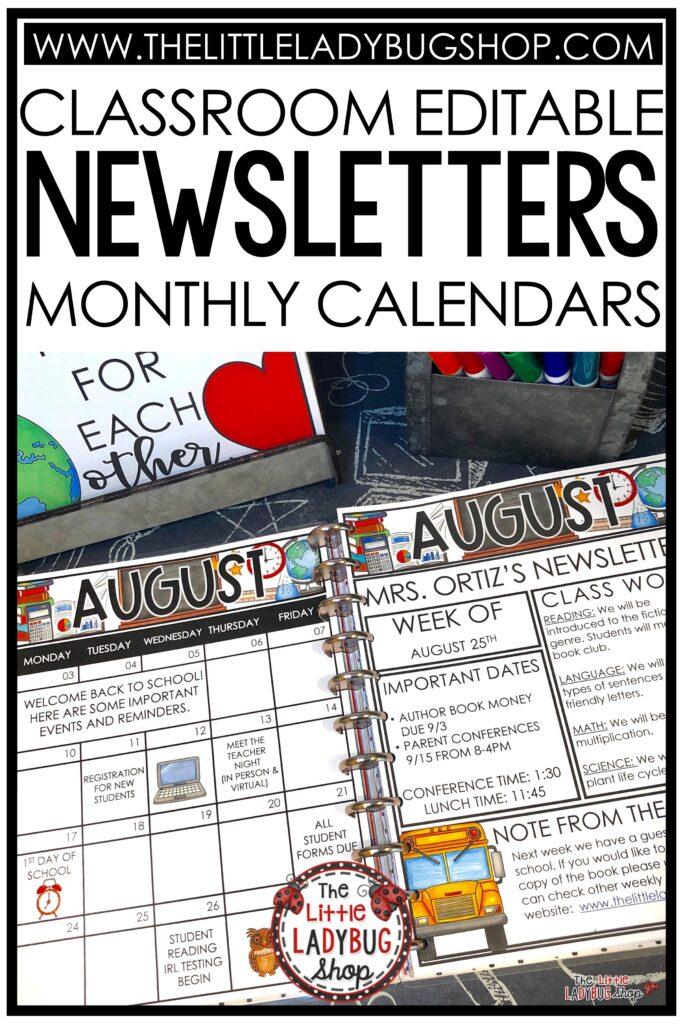 Classroom Communication Newsletter Templates