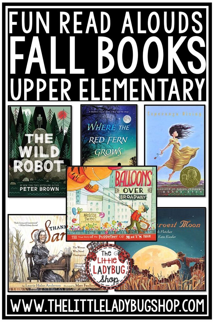 Fall Read Aloud Books for Upper Elementary