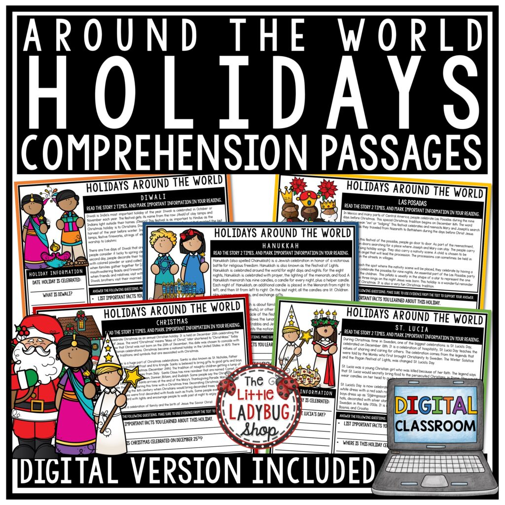 Holidays Around the World Activities