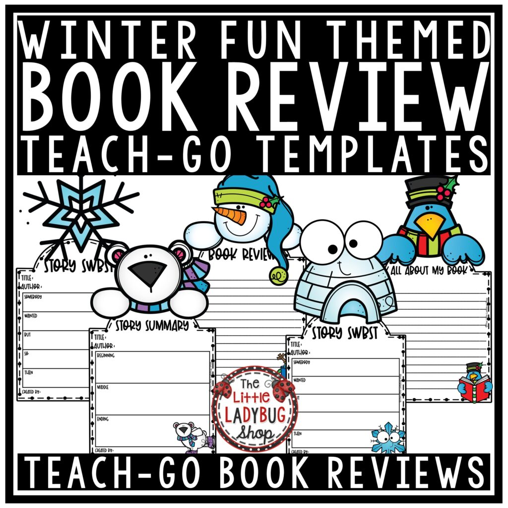 Winter Book Review Templates for Any Book