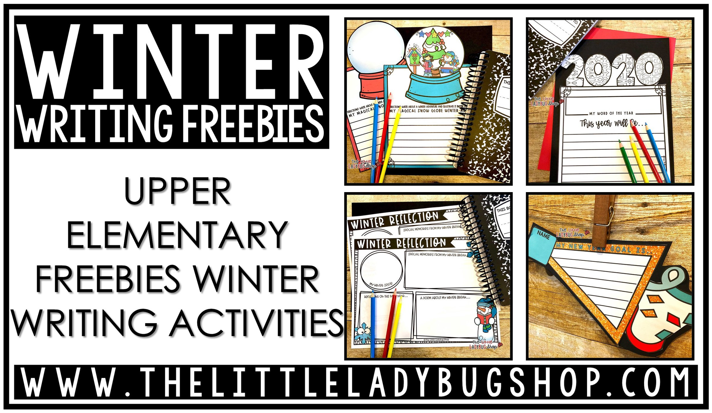 Winter Writing Freebies for Upper Elementary