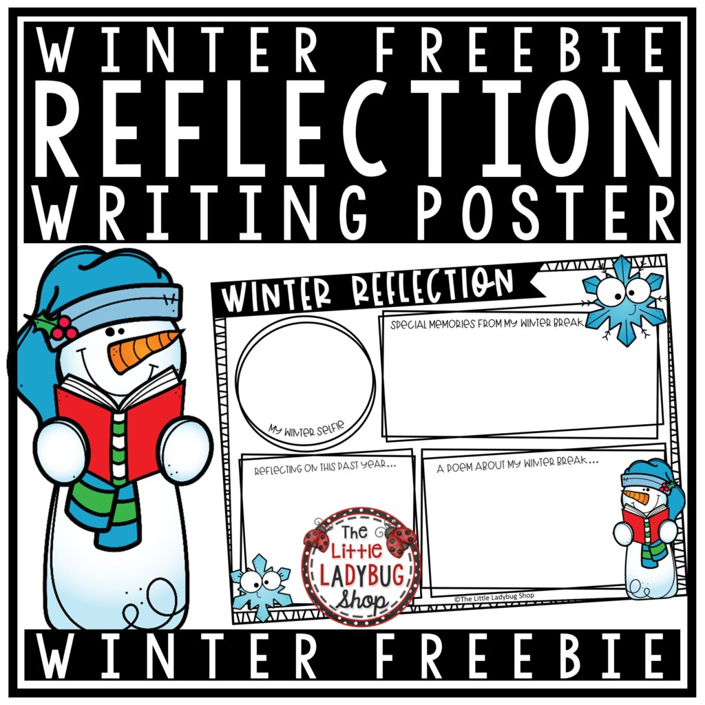 Winter Reflection Writing Poster