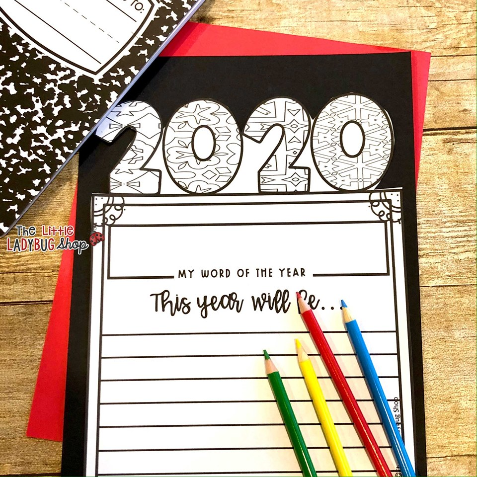 New Years Goal Setting Writing Activity
