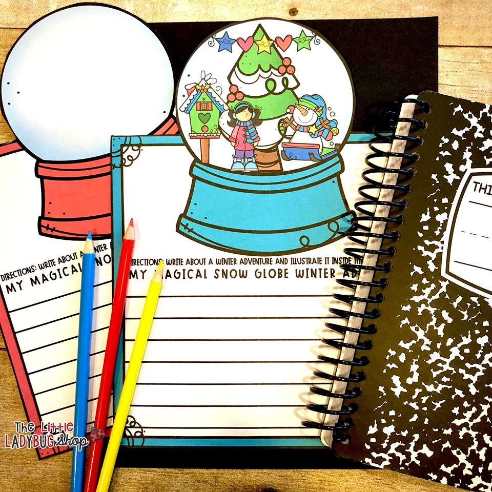 Snowglobe Winter Writing Freebie