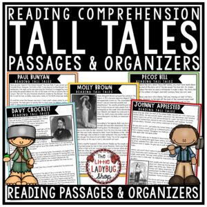 Tall Tales Reading Comprehension Passages & Questions 3rd & 4th Grade