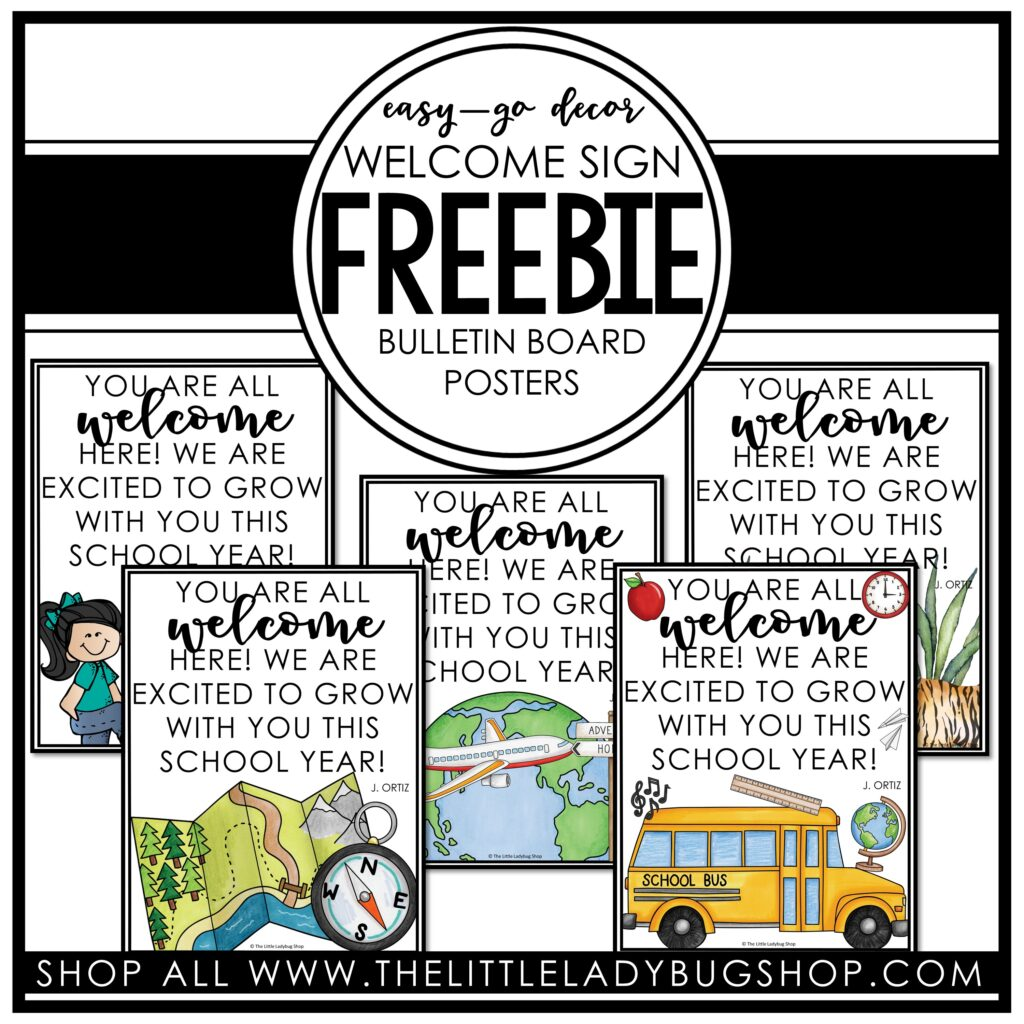Classroom Decor Themes Freebie