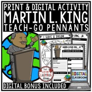 Digital Martin Luther King Jr Writing Activity MLK January Bulletin Board