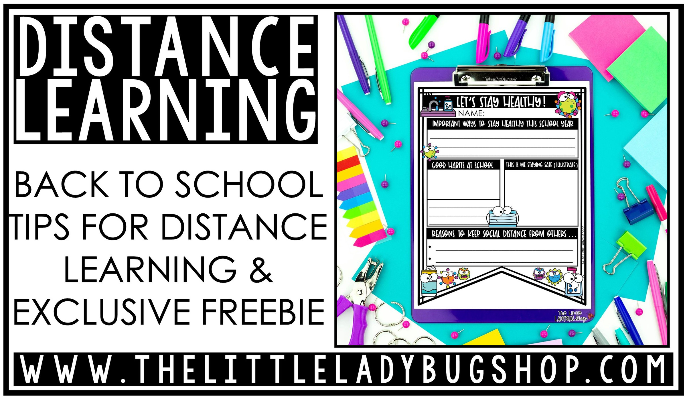 Ideas for Back to School Distance Learning freebie