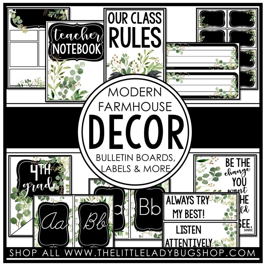 Modern Farmhouse Classroom Decor Theme