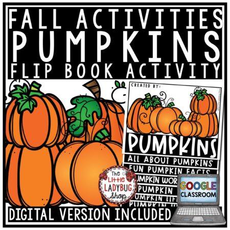 All About Pumpkins Flip Book- Fall Writing Activities