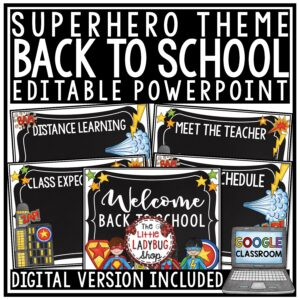 Superhero Back To School PowerPoint Template